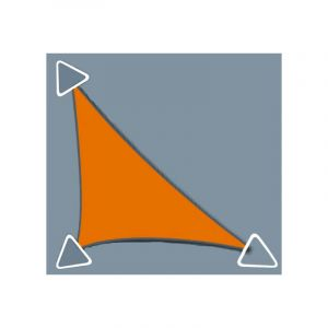 Zodiac Voile d'ombrage Concave 5x5x7m imperméable à l'eau et au vent, de couleur Anthracite - DIRECT FILET