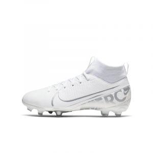 Nike Chaussure de football multi-surfacesà crampons Jr. Mercurial Superfly 7 Academy MG pour Enfant - Blanc - Taille 36 - Unisex