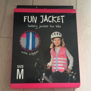 Wowow Fun Gilet de sécurité Enfant Rose Fluo Taille M (8-10 ans)