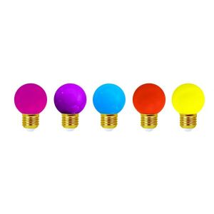 Girard sudron Lot de 5 ampoules led E27 étanches pour guirlande décorative (4 kits) - Kit guirlande - Kit Pop