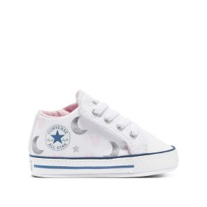 Converse Chuck Taylor All Star Cribster Mid toile Enfant-18-Blanc Rose