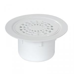 Nicoll SITARV - Siphon sol plastique avec grille PVC sortie verticale Diam 50-63