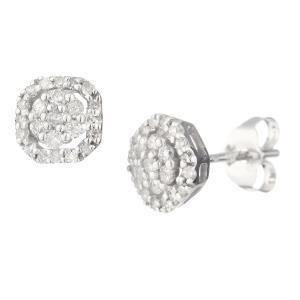 Bijoux Monte Carlo Star E90024WB9KT - Boucles d'oreilles en or 375° et diamants