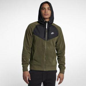 Nike Sweat à capuche entièrement zippé Sportswear pour Homme - Vert - Taille L