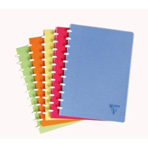 Clairefontaine Linicolor Fresh (328136C) - Cahier à spirales 144P A4 petits carreaux (90g) feuilles repositionnables