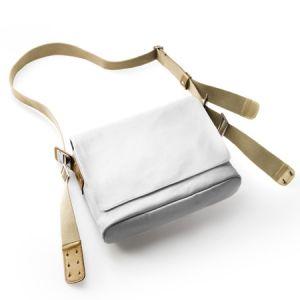 Brooks Sacoche en bandouliere paddington canvas shoulder bag blanc