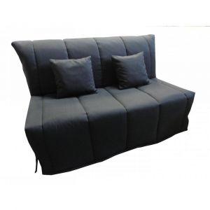 Inside75 Canapé BZ convertible FLO noir 140*200cm matelas confort BULTEX