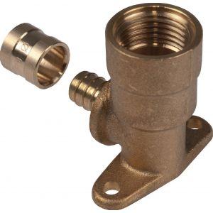 Coude applique filetée longue Raccords - Diamètre de l'embout 16 mm - Filetage 15 x 21 mm