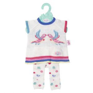 Zapf Creation 826966 - Baby Born Trend - Ensemble de vêtements en Tricot - Rose/Blanc - 43 cm