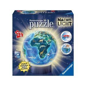 Ravensburger Puzzle Ball 3D avec LED - Le Monde en Anglais