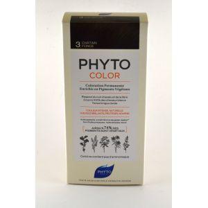 Phyto Paris Phyto Color - Coloration Permanente - 3 Châtain Foncé - 112 ml