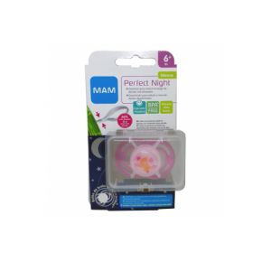 Mam Baby Silicone Soother Perfect Night +16 M Pink