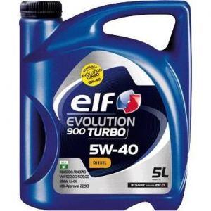 Elf Huile moteur Evolution 900 Turbo 5W40 Diesel 5 L
