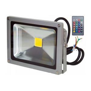 Ohm-Easy Projecteur LED 20W extérieur IP65 RVB avec télécommande