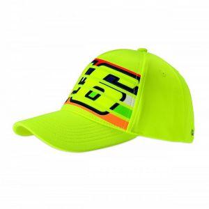 VR46 Casquette Valentino Rossi Stripes jaune fluo 2019
