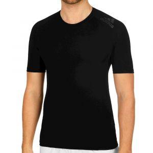 Adidas AlphaSkin Sport Tee Short Sleeve T-Shirt Homme, Noir, FR : S (Taille Fabricant : S)