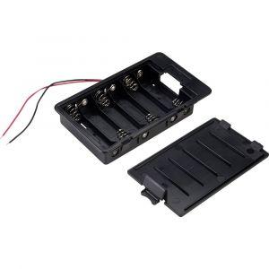 Tru Components SBH361A Support de pile 6 LR6 (AA) câble