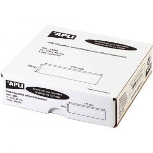 Produit neutre Boîte de 1000 étiquettes d'affranchissement 1 front format 170x45 mm.