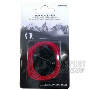 Salomon Unisexe QUICKLACE KIT, Lacets, Rouge, L32667400
