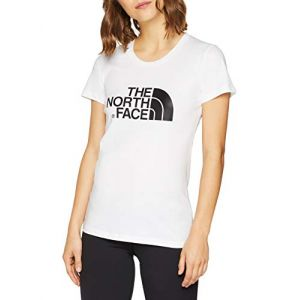 The North Face Women's Easy T-Shirt Femme, Whit/TNF Wh, FR : XS (Taille Fabricant : XS)