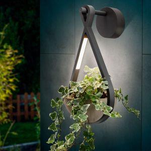 Esotec Applique à LED avec pot de fleurs Applique d?extérieur Lampe d?extérieur 201207