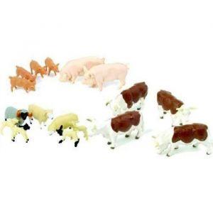 Tomy Assortiment de 17 figurines animaux de la ferme en plastique