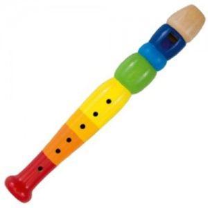 Goki 61921 - Flûte en bois multicolore 20 cm