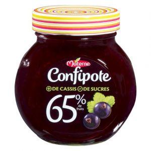 Materne Confipote - Confiture de cassis 65% de fruits, allégée en sucres