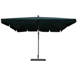 Pegane Parasol rectangulaire déporté coloris vert Dim : H 250 x D 300 X 200/4 baleines