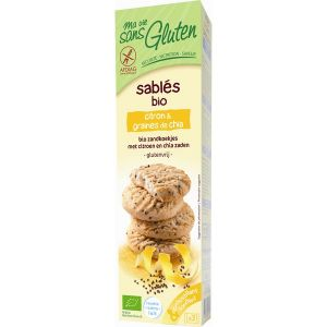 Ma vie sans gluten Sablés Bio citron & graines de chia (150g)
