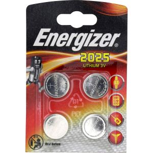 Energizer Pile bouton CR 2025 lithium 163 mAh 3 V 4 pc(s)