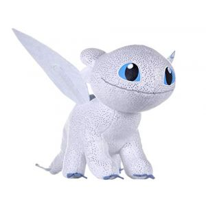 Joy Toy DreamWorks - 12434 - Peluche - Train Your Dragon 3 Light Fury - Fonctionnalités Sombres - 32 cm - Brille