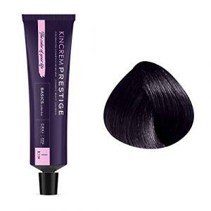 Kin Cosmetics Coloration permanente enrichie à la kératine 1.1 - Noir Bleu, 60ml