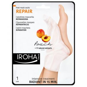 Iroha nature Chaussettes masques réparatrices Peach