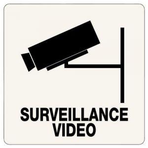 Novap PANNEAU ADHESIF SURVEILLANCE VIDEO 100X100MM,