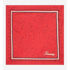 Tommy Hilfiger Carré de soie siglé Rouge
