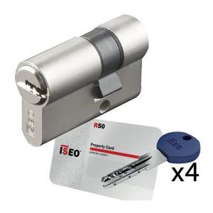 Iseo Cavers Demi Cylindre de porte City R50 barillet haute sécurité 30 x 10 mm 5 clés brevetées et carte