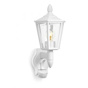 Steinel L 15 Blanc - luminaire extérieur á détecteur de mouvement 180°, portée jusqu'à 10 m, design classique, A 400784161791
