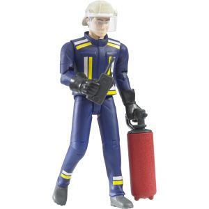 Bruder Toys 60100 - Pompier avec casque, gants et accessoires