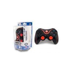 Freaks and Geeks Manette PS3 Bluetooth sans fil vibrante + Câble de recharge de 3m