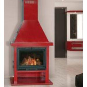 Franco Belge 134 10 29 - Poêle cheminée Flamboyante