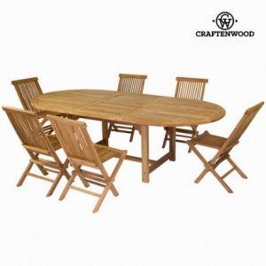 Craftenwood Table à rallonge avec 6 chaises