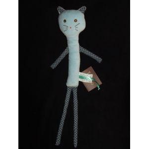 Du pareil au même Doudou Chat Chaton Dpam Bleu Étoile Pouet Pouet Plush Comforter Soft Toy Peluche 45 cm