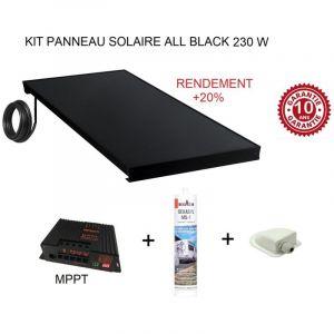 Antarion Kit panneau solaire 230 W pour camping car ALL BLACK +20%