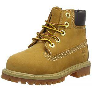 Timberland 6 Classic 6 In Premium Wp Boot, Bottes Classiques Mixte Enfant,Jaune (Wheat yellow), 21 EU