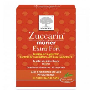 New Nordic Zuccarin Murier Extra fort - 45 comprimés