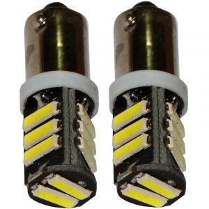 Aerzetix : 2x ampoule T4W T5W BA9s 12V 11LED SMD blanc effet xénon éclairage intérieur plaque d'immatriculation seuils de porte plafonnier pieds lecteur de carte coffre compartiment moteur
