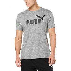 Puma Ess, T-Shirt Homme, Medium Gray Heather, FR : L (Taille Fabricant : L)