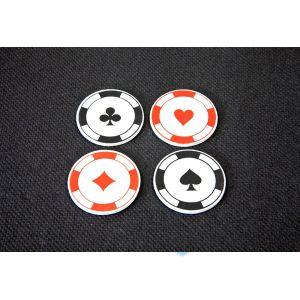 12 confettis de table en bois jetons Casino