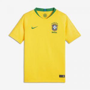 Nike Maillot de football 2018 Brasil CBF Stadium Home pour Enfant plus âgé - Or - Taille L - Unisex